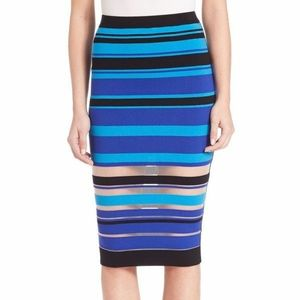 NWT MILLY Invisible stripe fitted skirt